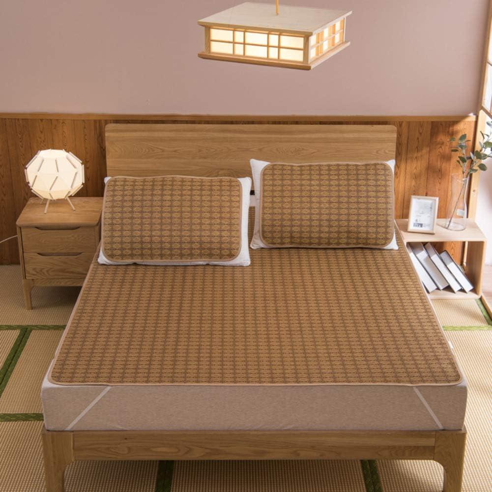AMYDREAMSTORE Bamboo Summer mat Cooling Sleeping pad Mattress Topper Cooling mattresses Bed-mat Foldable-A 1.82m(71x79inch)