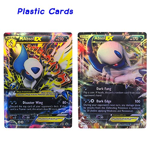 Absol Collection Cards Set - Mega EX XY63 - EX XY62 Plastic Cards series