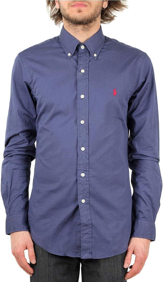 Ralph Lauren Camisa Hombre Polo Slim Fit Marino: Amazon.es: Ropa y ...