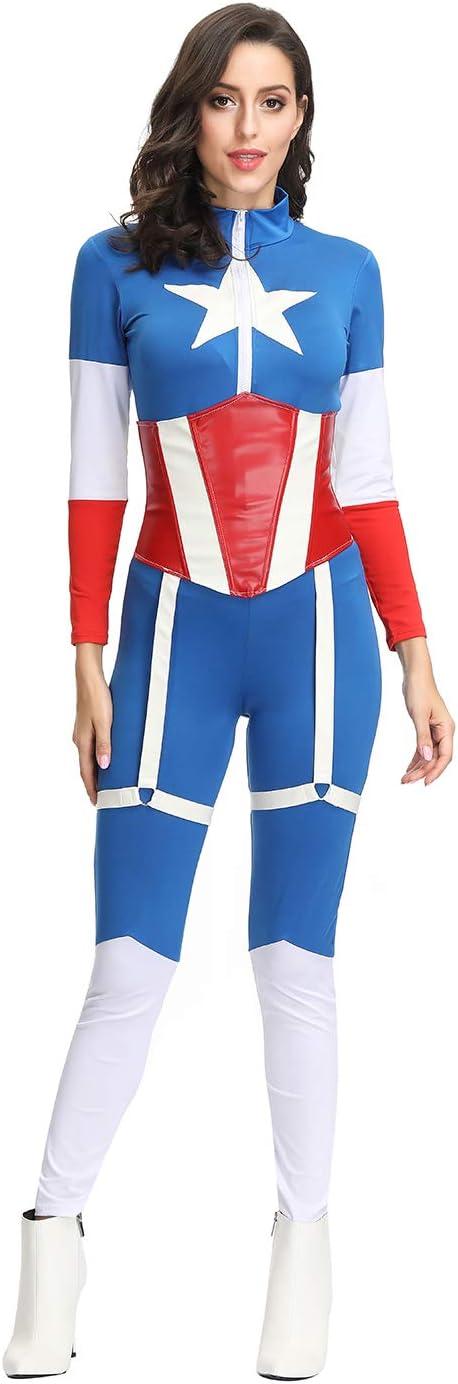 Disfraz de Halloween para mujer Traje sexy de Capitán América ...