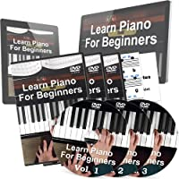 Learn Piano for Beginners Course - 3 DVDs, Piano Stickers and 2 Free Bonuses - Perfect Piano Lessons for Kids and Adults who want to Learn How To Play Piano the Right Way