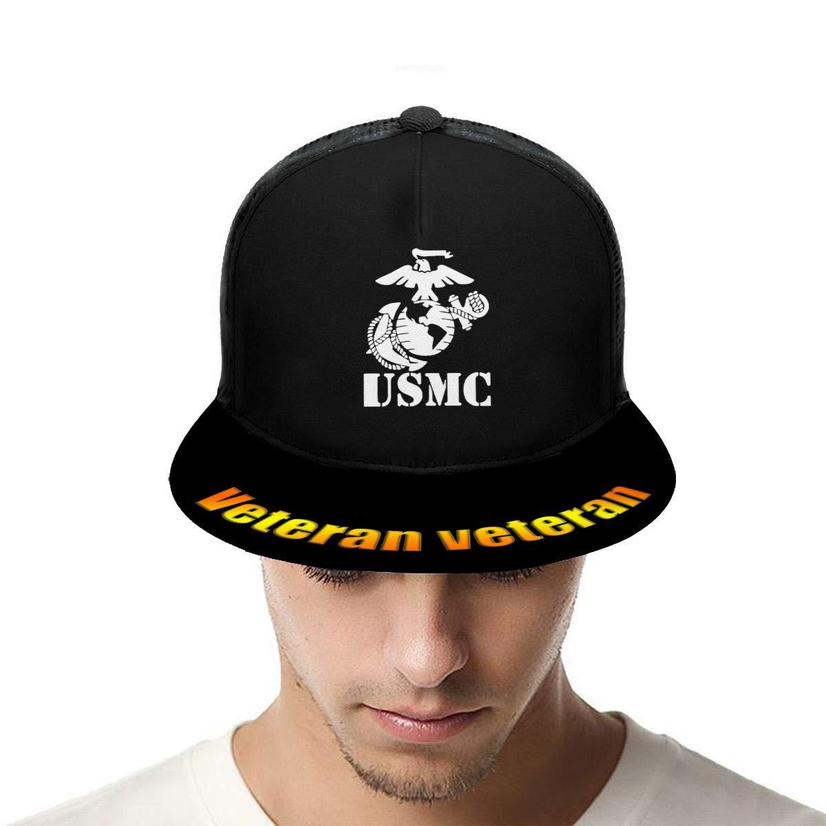 Eagle Globe Anchor USMC Marine Corps Classic Grid Hop Flat Along Baseball Hats Snapback Men Women Caps Adjustable