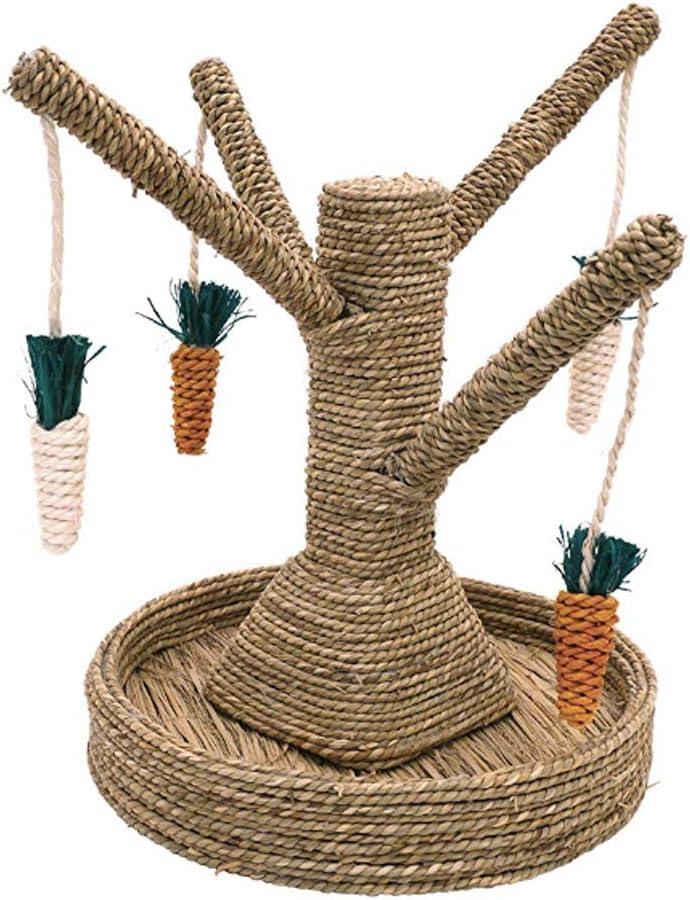 NINGYE Juguete para Mascotas pequeñas, Juguete Creativo en Forma de árbol para hámster, Loro, Chinchilla, Conejillo de Indias, Masticar y Jugar