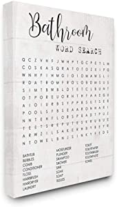 Stupell Industries Bathroom Search Fun Family Word Canvas Wall Art, 16 x 20, Design by Artist Daphne Polselli