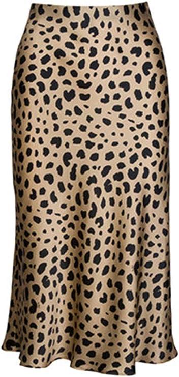 Mujer Leopardo Falda Midi