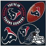 NFL Houston Texans Unisex NFL 4Piece Magnet Set, Navy, One Size