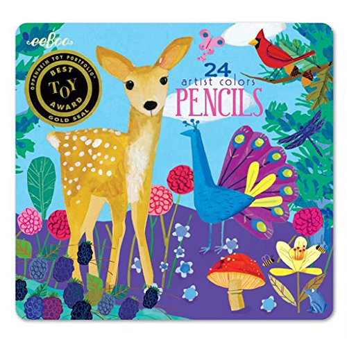 eeBoo Life on Earth Colored Pencils in Tin Case, Set of 24