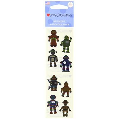 Mrs Grossman Stickers-Robots: Arts, Crafts & Sewing