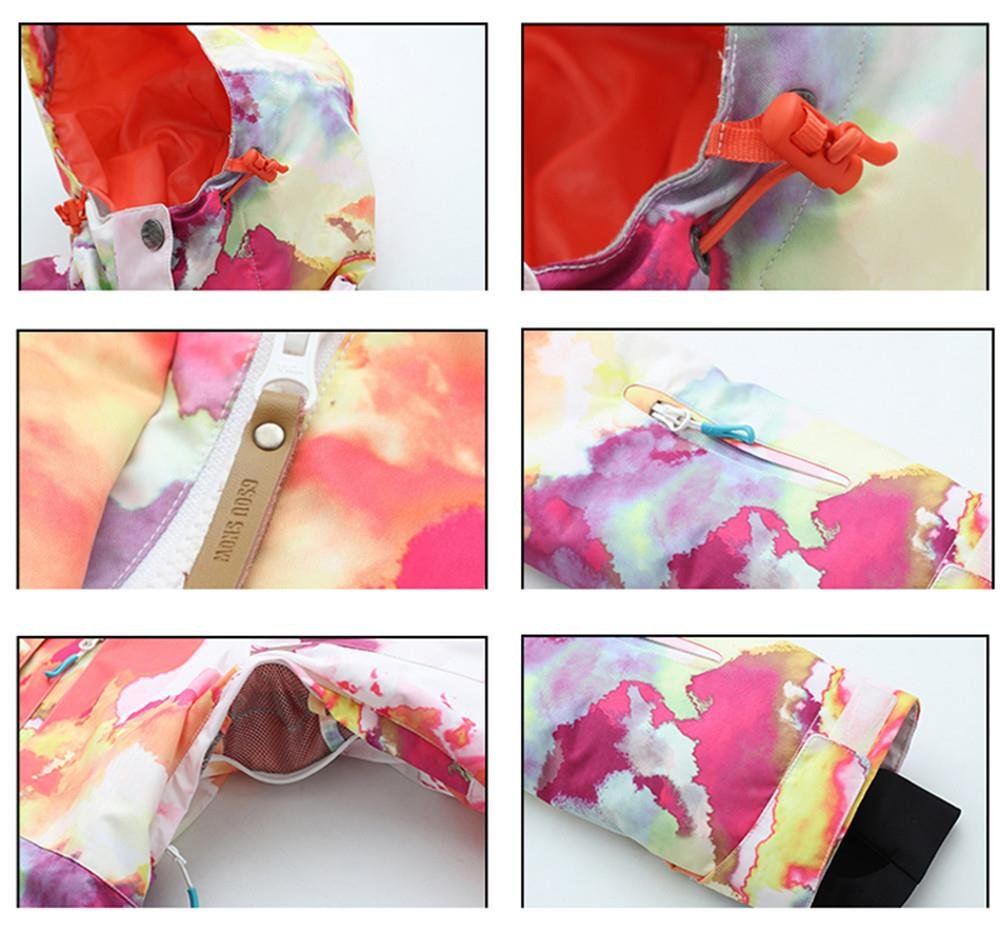 Women's High Breathable Waterproof and Windproof colorful Snowboard Printed Ski Jacket by RIUIYELE (Image #2)