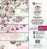 Prima Marketing Inc. 630959 Misty Rose 12x12 Paper pad, Multicolored