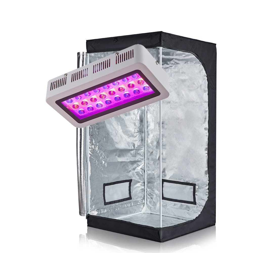 TopoGrow LED 300W Grow Light kit 32 x32 x63 600D Grow Tent Combo Plant Germination Kits Indoor Hydroponics System LED 300W 32 X32 X63