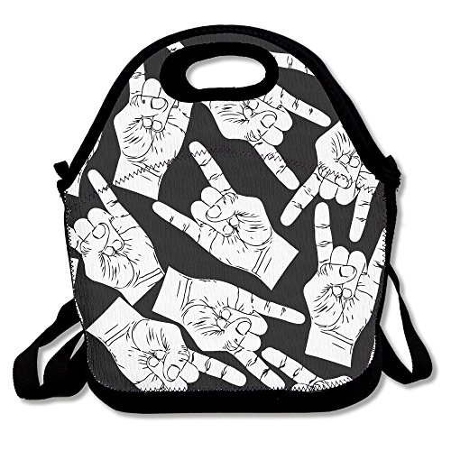 ZGZGZ Same Gesture Adjustable Straps Lunch Box Bag Tote Holder Suitable For Students And Working Families