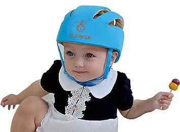 ea493f6087d Amazon.com : Baby Adjustable Safety Helmet Children Headguard Infant  Protective Harnesses Cap Blue : Baby