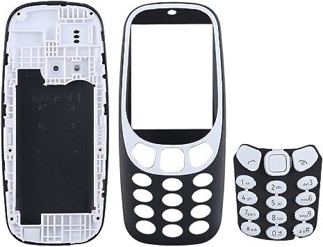YANCAI Repuestos para Smartphone Cubierta de Carcasa Completa con Teclado de para Nokia 3310 (Negro) Flex Cable (Color : Black): Amazon.es: Electrónica