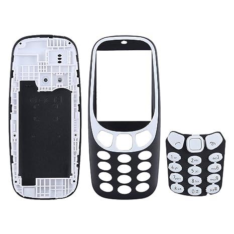 WEIHONG Cubierta de la Carcasa de Montaje Completo con Teclado para Nokia 3310 (Negro)