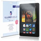 iLLumiShield – Amazon Kindle Fire HDX 7 Wi-Fi LTE (HD) Blue Light UV Filter Screen Protector Premium High Definition Clear Film / Reduces Eye Fatigue and Eye Strain – Anti- Fingerprint / Anti-Bubble / Anti-Bacterial Shield - Comes With Free LifeTime Replacement Warranty – [2-Pack] Retail Packaging