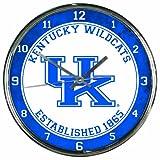 """NCAA Kentucky Wildcats Chrome Clock, 12"""" x 12"""""""