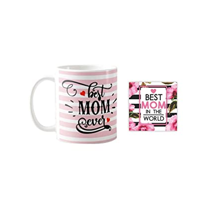 Buy Yaya Cafe Mothers Day Gifts Best Mom Ever Mug For Mother Coaster Combo Set Of 2 Mom Birthday Gifts Online At Low Prices In India Amazon In