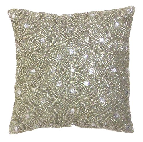 beaded throw pillows  amazon com