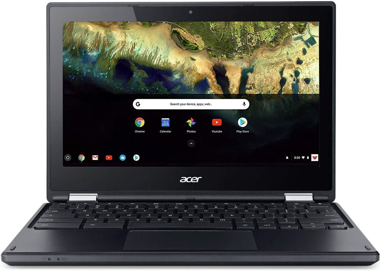 Acer Chromebook R 11.6 in HD Multi-Touch Screen Convertible Laptop, Webcam, Intel Celeron N3060, 4GB RAM, 32GB eMMC SSD, Google Chrome OS (Black Color), 11-11.99 inches (Renewed)