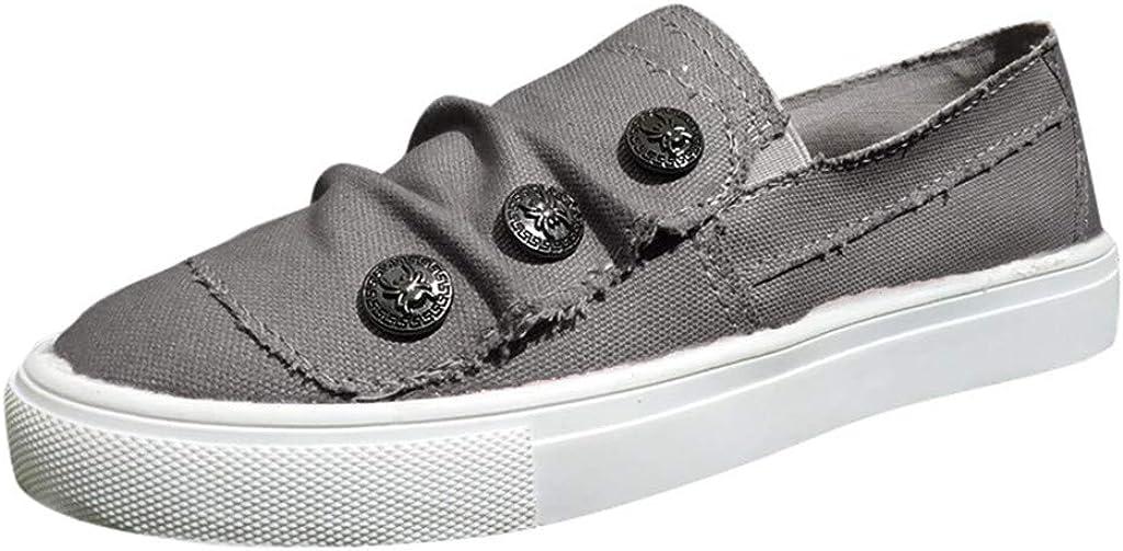 COPPEN Women Loafers Out Shoes Toe Platform Flat Heel Buckle Strap Walking Shoes
