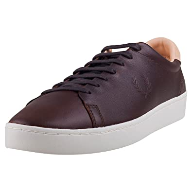Fred Perry KINGSTON LEATHER Dark Chocolate dYOjHMas9Q