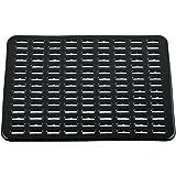 InterDesign Syncware Kitchen Sink Protector Mat Large, Black