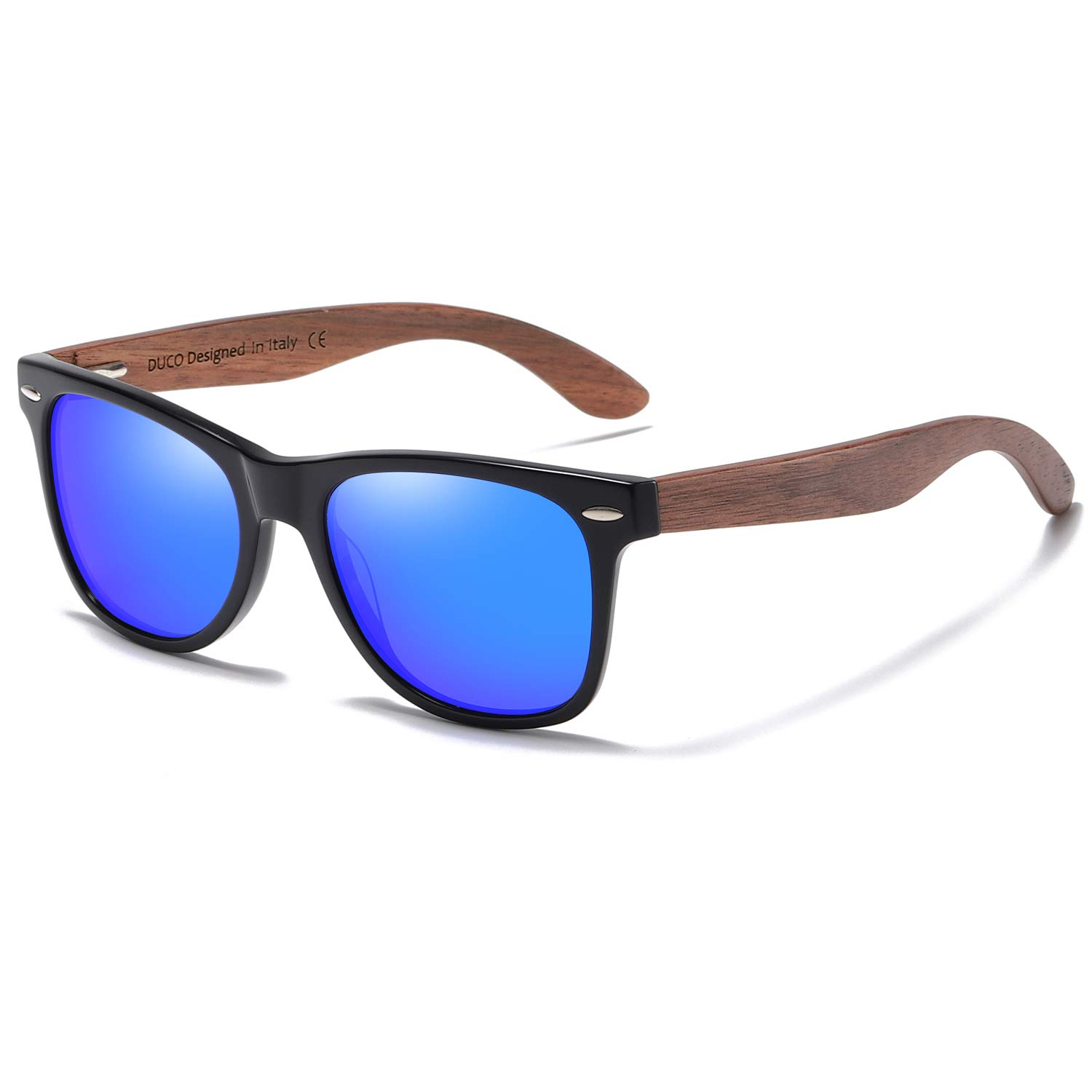 DUCO New Release Polarized Driving Eyewear Handmade Wooden Sunglasses for Men and Women 2141