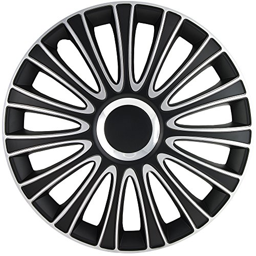 17 inch silver and black hubcaps - 1