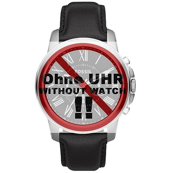 Fósil de cambio de la correa de pulsera LB-FS4812 Original Ersatzband FS 4812 reloj de cuero correa 22 mm negro: Amazon.es: Relojes