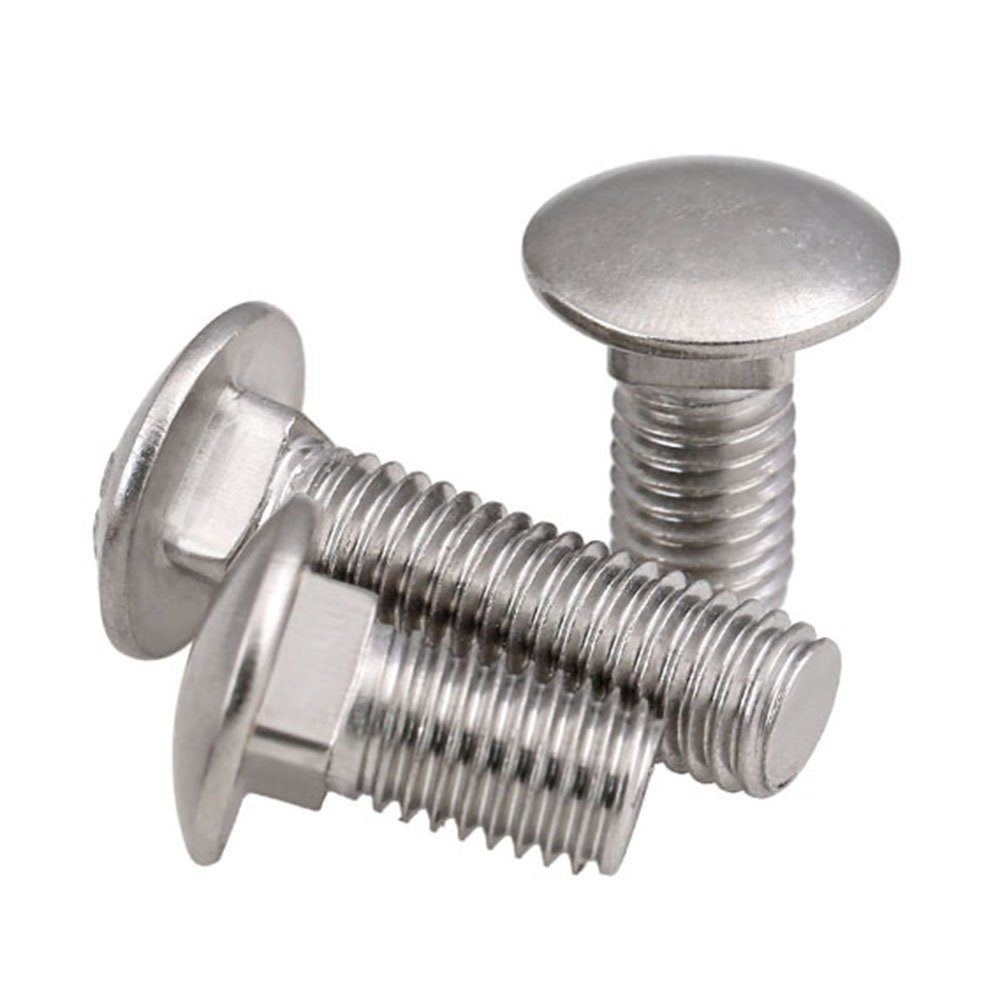 3//8-16 x 2-1//2 Carriage Bolt Nut and Flat Washer Hot Dipped Galvanized 80 pcs