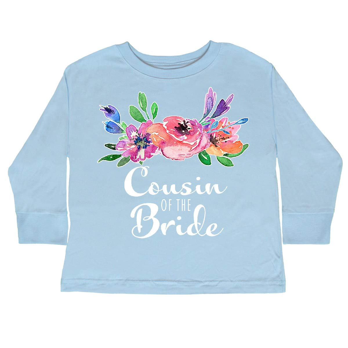 inktastic Cousin of The Bride with Bouquet Toddler Long Sleeve T-Shirt