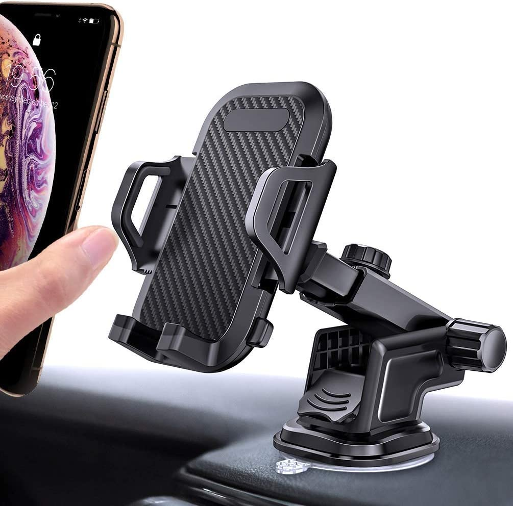 SHINYLIFE Long Arm Car Cell Phone Mount,Air Vent Phone Holder,Strong Suction Cup Dashboard Windshield Phone Holder Compatible with iPhone 11 Pro Max XS X XR 8 7 6 Plus Samsung S20 S10 S9 Note 10 9