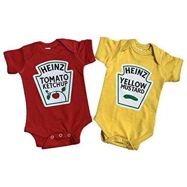 8186de2b0516 Amazon.com: Twins Outfits, Ketchup and Mustard Twin Set, Including 2 ...
