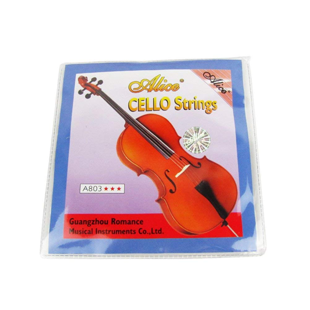 Musiclily Alice Nickel Silver Wound Cello Strings 4/4 Size Set(Set of 5) A803