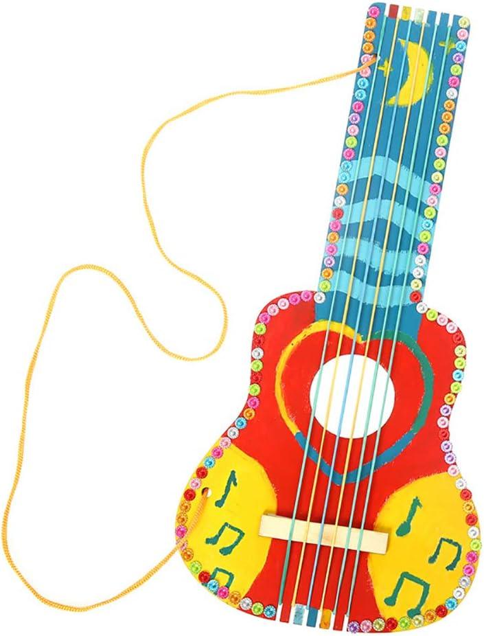 nuiOOui131 - Bloc de Dibujo de Guitarra de Madera para ...