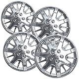 16 chrome hubcaps impala - OxGord HC-3232-16CH 16 inch Chrome Hubcaps Set of 4
