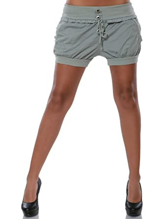 64e80a84a0a9 Damen Shorts Hot-Pants Kurze Sommer Hose DA 15655  Amazon.de  Bekleidung