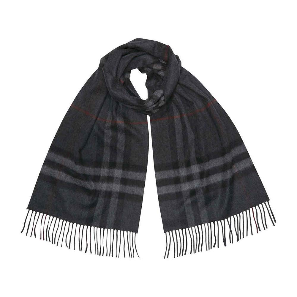 Burberry the Classic Cashmere Scarf in Heritage Check (charcoal check)