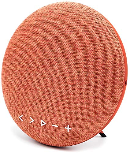 Bluetooth Speaker Fabric Portable Wireless Indoor Outdoor HiFi Home Speaker with 26W High-Res Drivers +1 Bass Radiator, 12Hours Battery Life, Hands-Free, AUX Input and TF Card Muisc Playing. (Orange) by Mookon