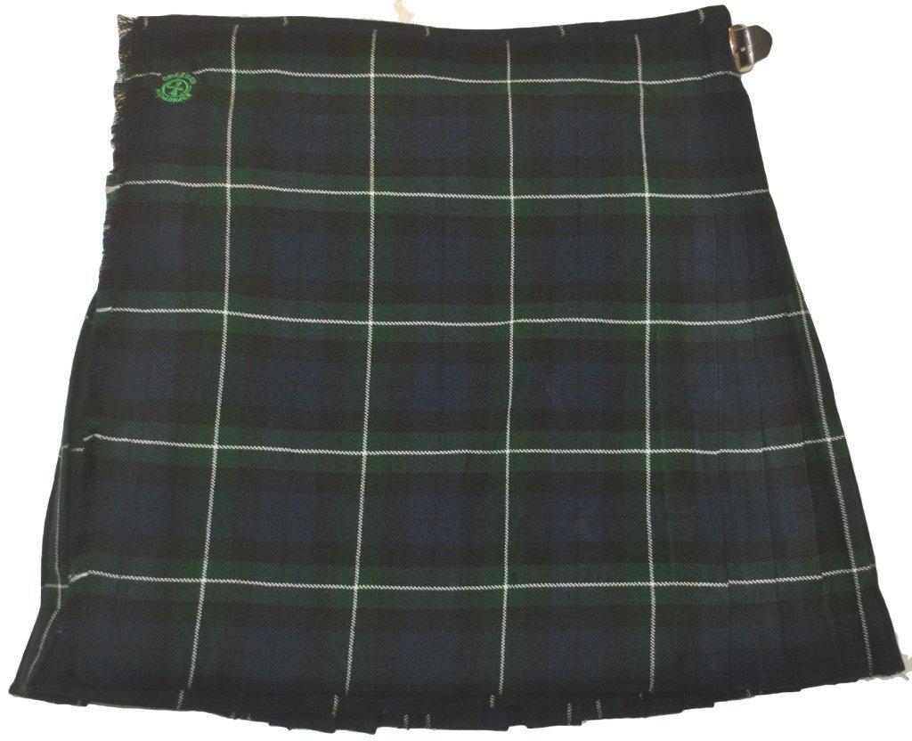 American Highlander Men's Montrose Tartan Kilt 50 Waist Blue/Green/Black/White