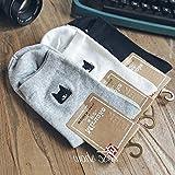 Global buys Korean cute little cat embroidery women girl socks Dongkuan fashion tide Ms. socks pure cotton socks