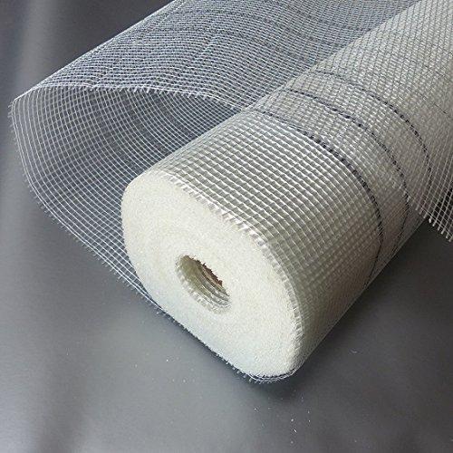 50m² armature Tissu Nettoyage Tissu Tissu en fibre de verre 165g/m² 4x 4mm maillage Grille Tissu Verre gaze Façade Plâtre VWS Système de WDVS Nettoyage de jointoiement perçage Fux Bohrfux