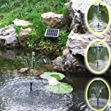 Agora-Tec-AT-2W-Solar-Teichpumpe-2-Watt-Hmax-170lh-Fontainenhhe-065m-fr-Gartenteich-oder-Springbrunnen