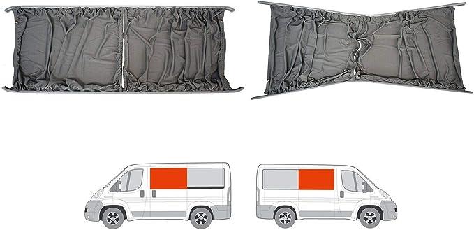 Cortinas gris a medida LH puerta corredera y RH Panel lateral ...