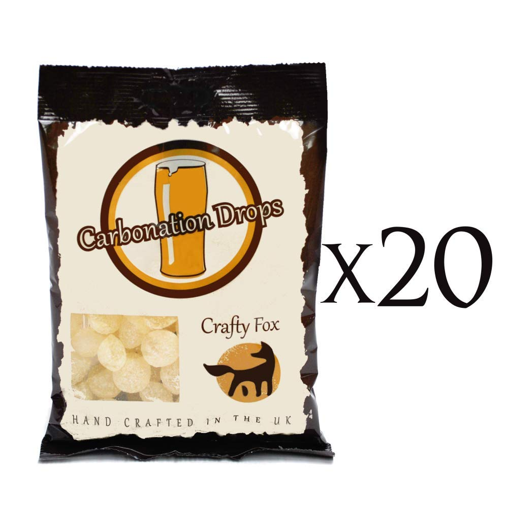 Crafty Fox Carbonation Drops Priming Sugar Tablets for Home Brew Beer Lager and Cider 20 Pack