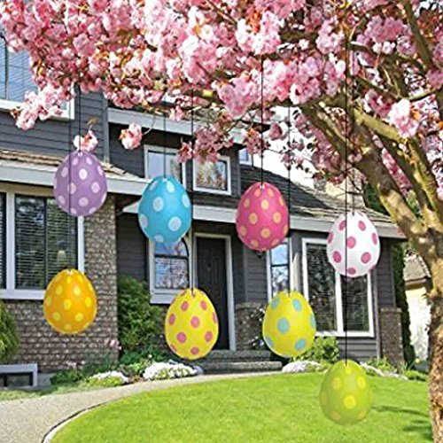 Easter Yard Decorations - FLAT Hanging Easter (Hanging Easter Decorations)