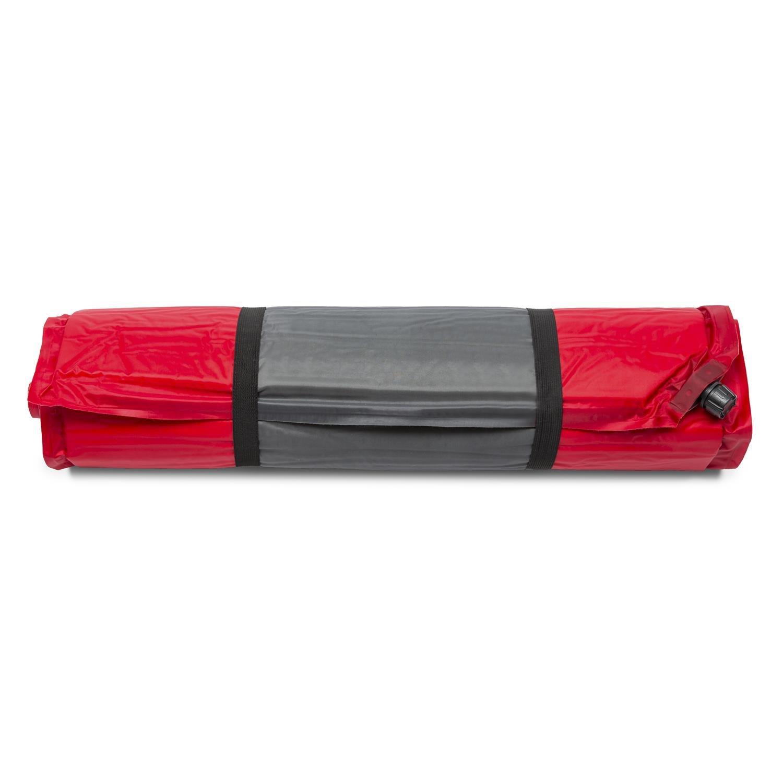 Yukatana Goodrest 5 Colchoneta Aislante autohinchable 5cm de Grosor Rojo-Gris (Esterilla Auto Inflable, Espuma de tafetán, extralarga, desplegable, Camping, ...