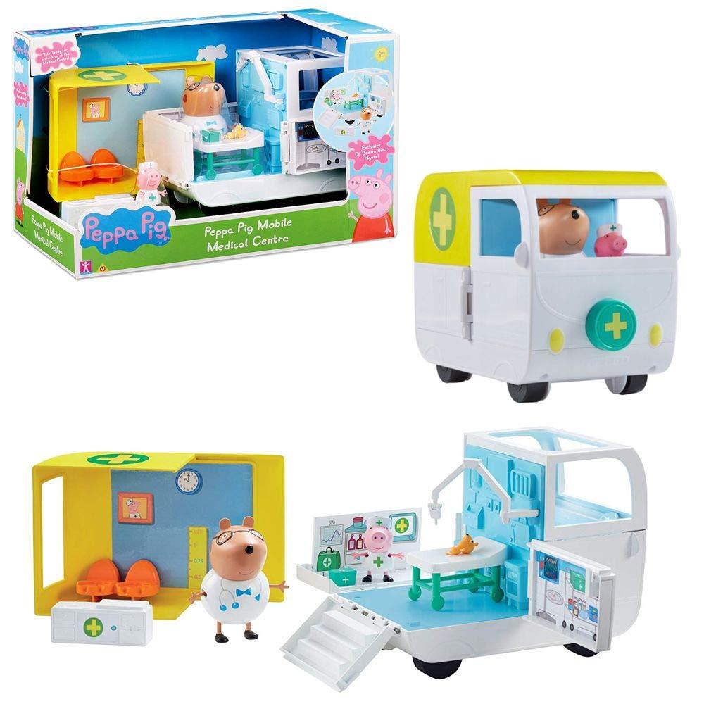Character World Ambulanza Centro Medico Mobile   Set da Gioco   Peppa Pig   con Dr. Orso Bruno