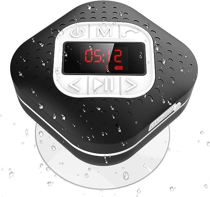 Altavoz Bluetooth Ducha Impermeable con Ventosa Extraíble, AGPTEK ...